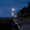 Waterfront Park lights at dawn