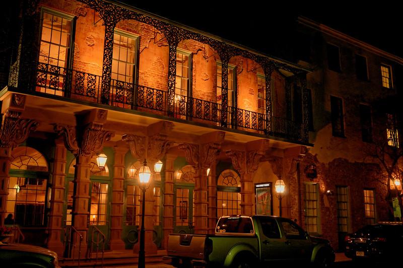 Dock Street Theater at Night