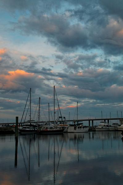 Dawn over the Charleston Yacht Club