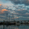 Dawn over the Charleston Yacht Club