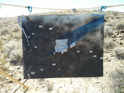 I went one-for-two during the first round at 1000 yards...  I adjusted and put 2 in the Bulls Eye with the next set of bullets.  Bulls Eye Count: 6
