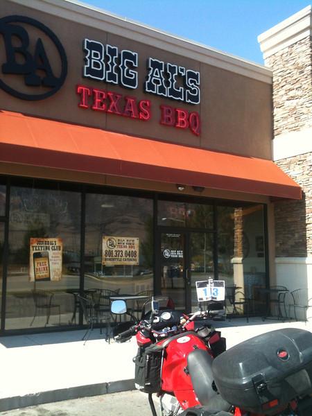 #2 Big Al's Texas BBQ, 992 S University Ave., Provo, UT.  30 Sept. 2012