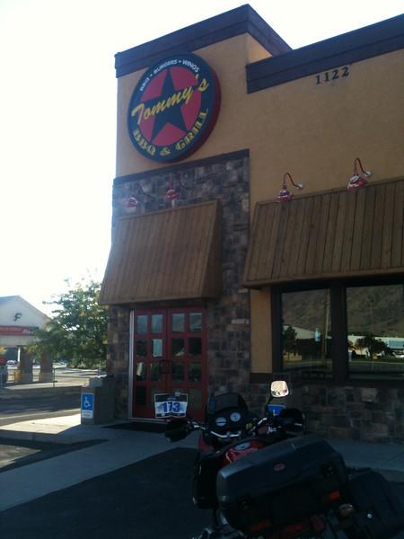 #3   Tommy's BBQ & Grill, 1122 S. University Ave., Provo, UT.    30 Sept 2012