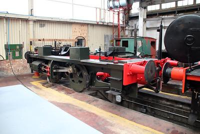 0-4-0ST 2220 'Invicta' under restoration  11/10/13.