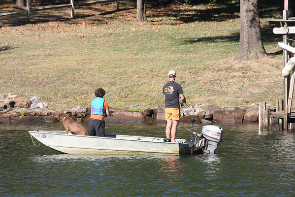 Fishing along the Tennessee River.
