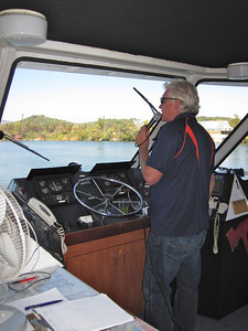 Dave our riverboat captain along the Tennessee River.
