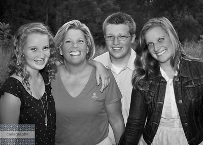 Mom and Cherubs cropped bw-