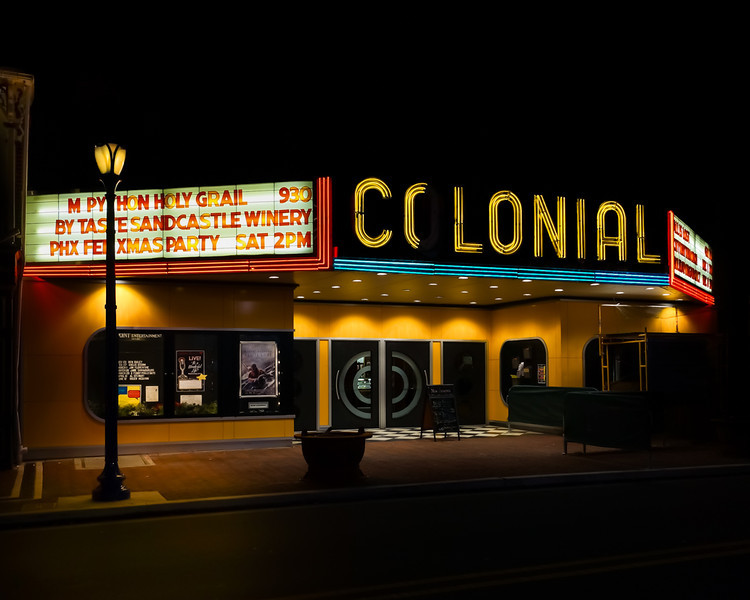 "Colonial Theater, home of the ""Blob"" in PA."