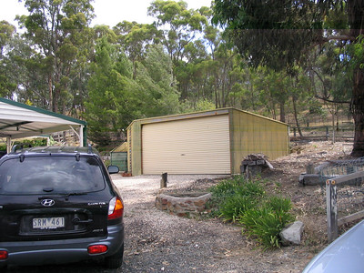 The big storage shed and behind you can see the National Park