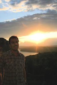 me and the sunset.. yaxha, guatemala