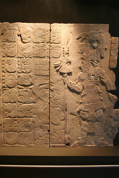 this relief is in a museum of things found at the palenque site.