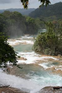 cascadas aguas azules, chiapas