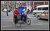 Bikes are still a major mode of transportation.