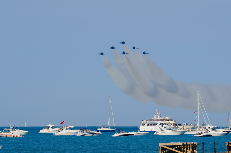 Chicago Air & Water Show 2008, Blue Angels entrance