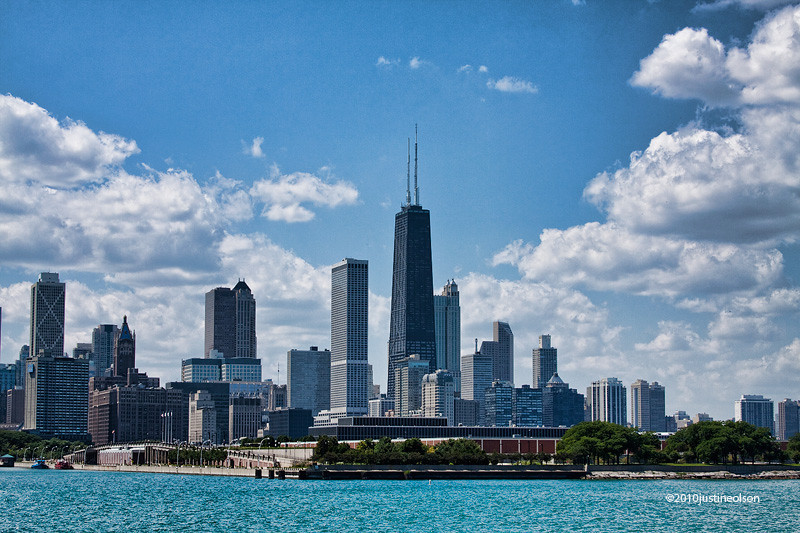 """Chicago skyline from the lake.<br /> """"Chi-Town"""""""
