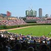 Home of the Chicago Cubs since 1916<br /> Hand turned scoreboard