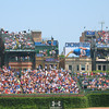 The ballpark is famous for its outfield walls which are covered by ivy.
