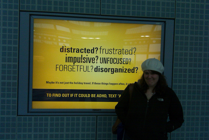 Our favorite welcome sign at the Chicago airport