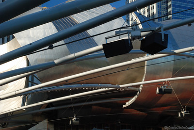 Jay Pritzker Pavilion in Chicago's Millennium Park. Designed by Frank Gehry
