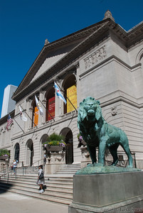 The main enterance of the Art Institute of Chicago.