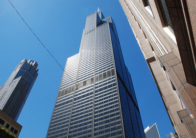 Sears Tower in Chicago. At one time the worlds largest building.