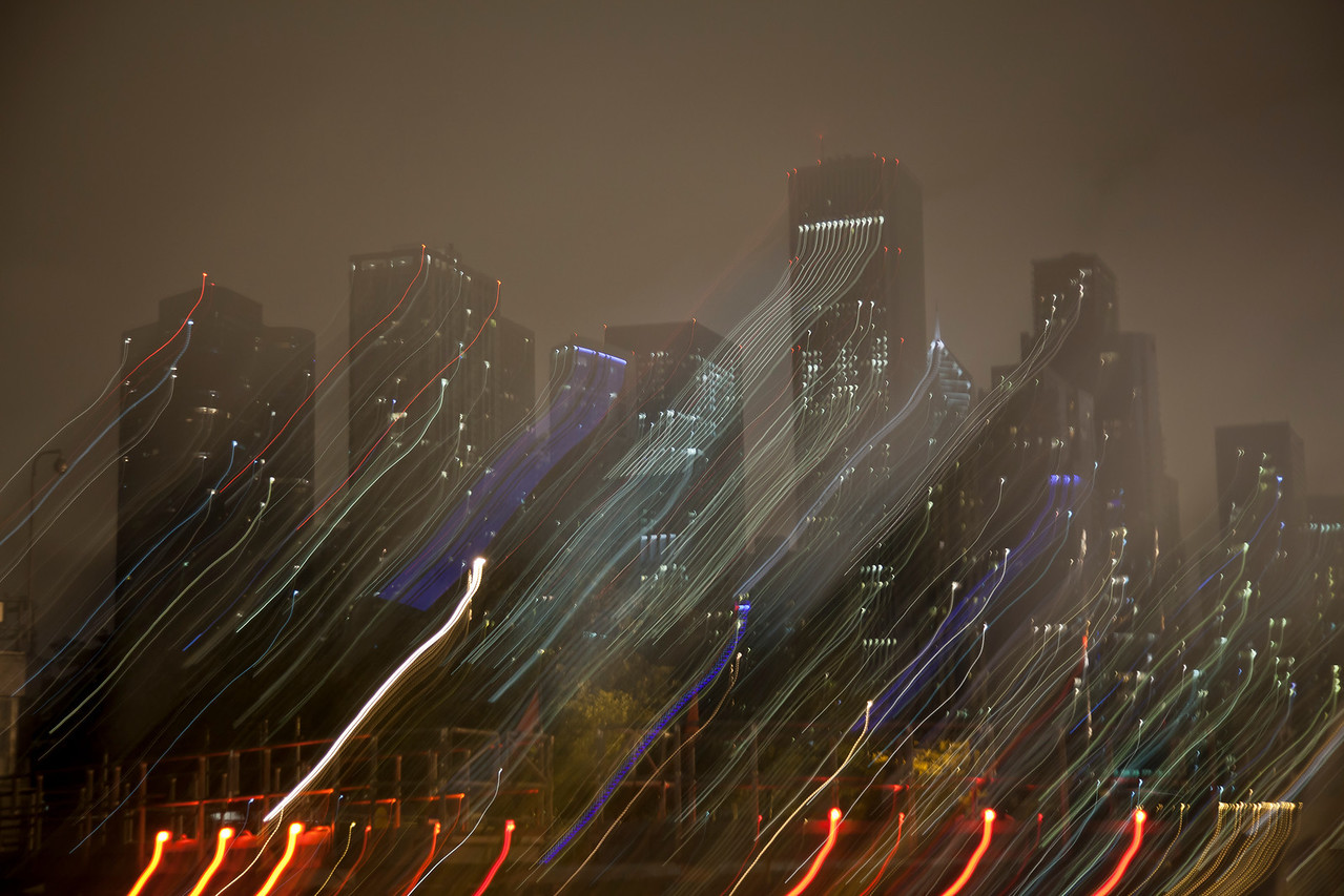 Chicago City Lights - Abstract (2)