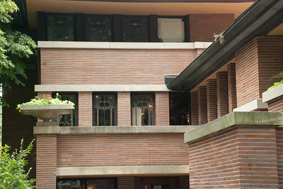 Frank Lloyd Wright's Frederick C. Robie House in the Hyde Park Neighborhood of Chicago.