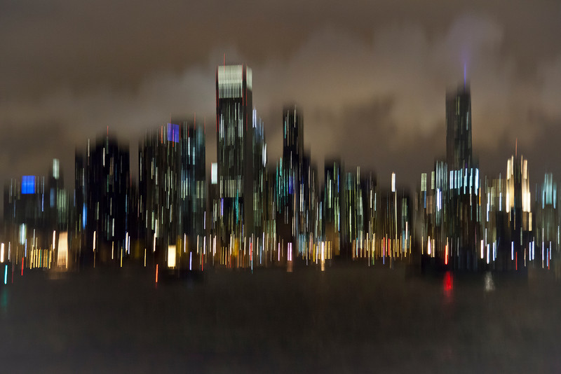 Chicago City Lights - Abstract