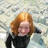 Up in the air over Chicago on the Sky Deck
