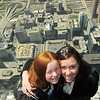 Up in the air over Chicago on the Sky Deck with Aunt Megan