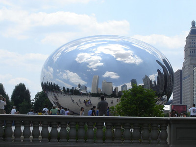 Chicago Visit, 2006  Chicago Sky-Line Reflected on the Bean