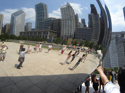 Chicago Visit, 2006  Michigan Ave. sky-line reflected on the Bean