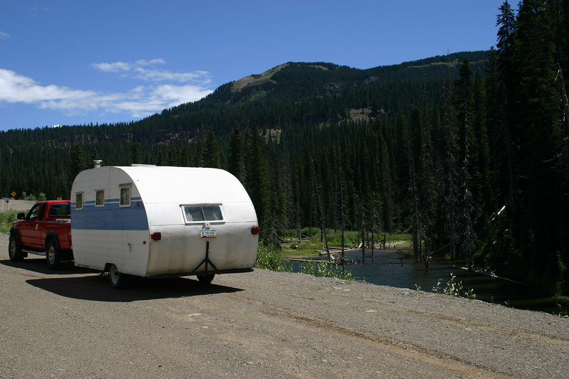 Would have been a great place to camp if we hadn't been on a busy thru road.