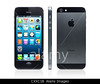 TA1.12 / Newest iPhone 5<br /> <br /> Choice 3 of 11<br /> <br /> CXXC1B Apple iPhone 5 black with desktop icons on its display side and rear views isolated on white background with clipping path