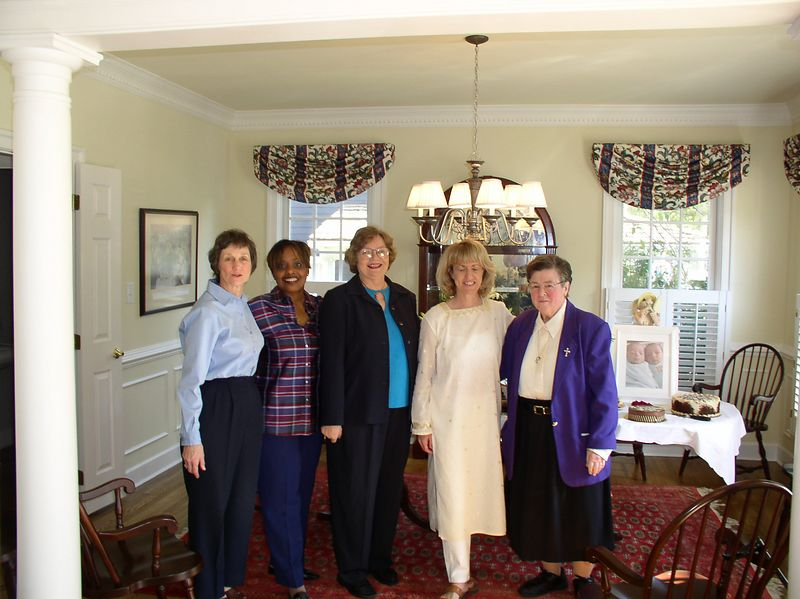 Welcome home party. The Division of Nursing support team: Pat, Nettye, Irene and my spiritual supporter, Sister Noel from Marymount University.