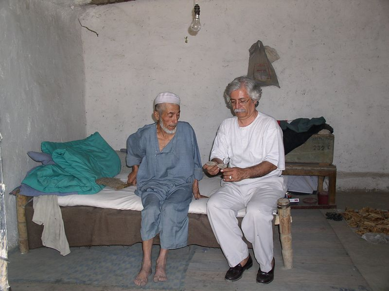 This older man lives alone 1/2 block from our house. I see him every day, laying on his bed (this is the entire house - size equivalent to a large box - 3 walls, a roof, no door). I asked Raheem to visit this man and learn his story: no family; can't see well (cataracts); neighbor kids bring him naan every day. So, I have our driver go to him every other day and ask what he needs: tea/sugar is the only request.