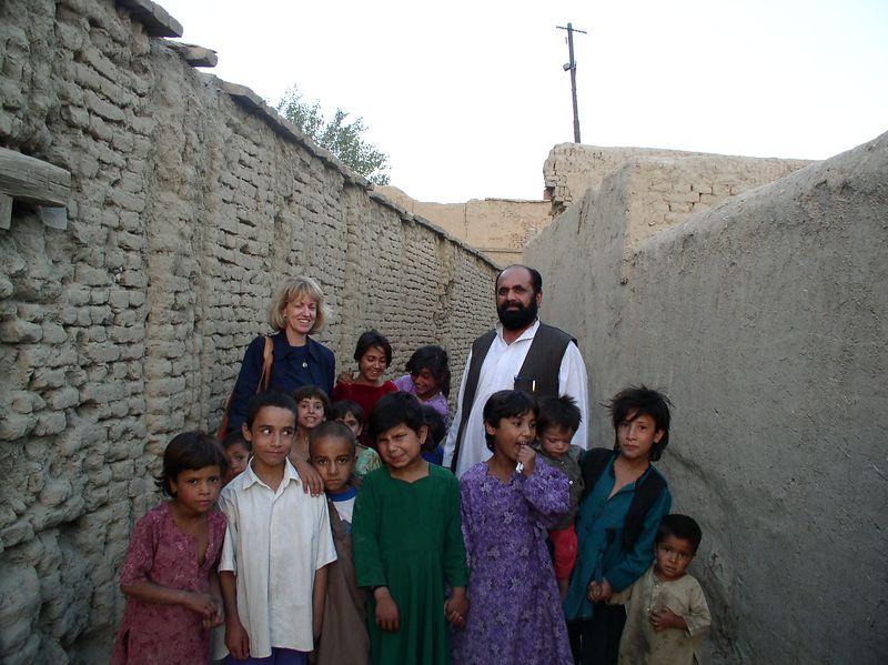 Me and the kids around Raisa's house. Kabul kids here are always laughing and playing.