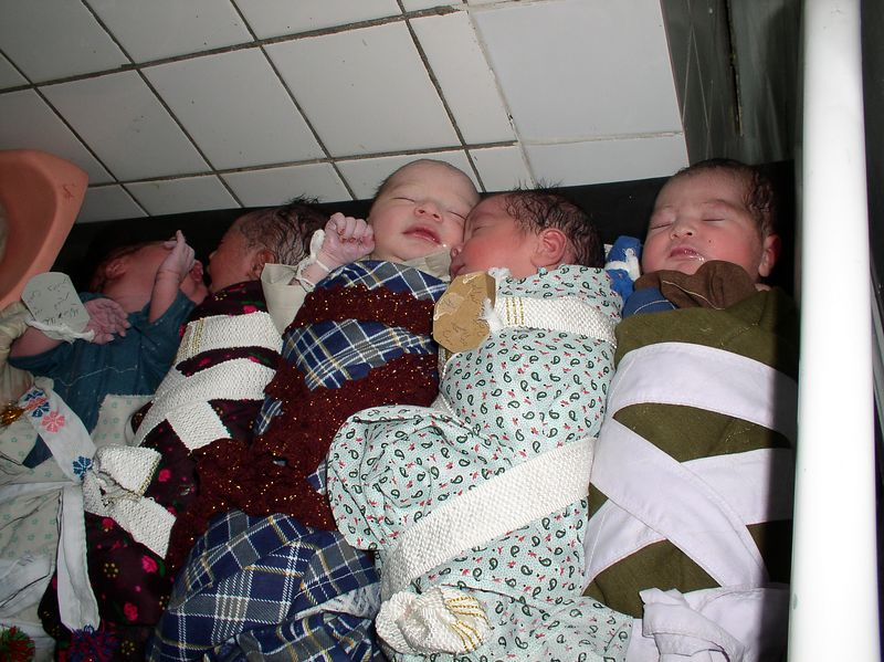 July 30th babies born in one hour at RBH-all content waiting to be cradled by family.