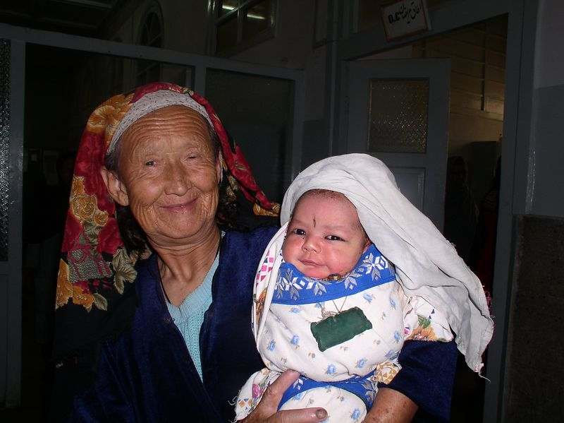 My favorite of the week. A grandmother and grandchild. I believe she is from the Kuchi tribe.