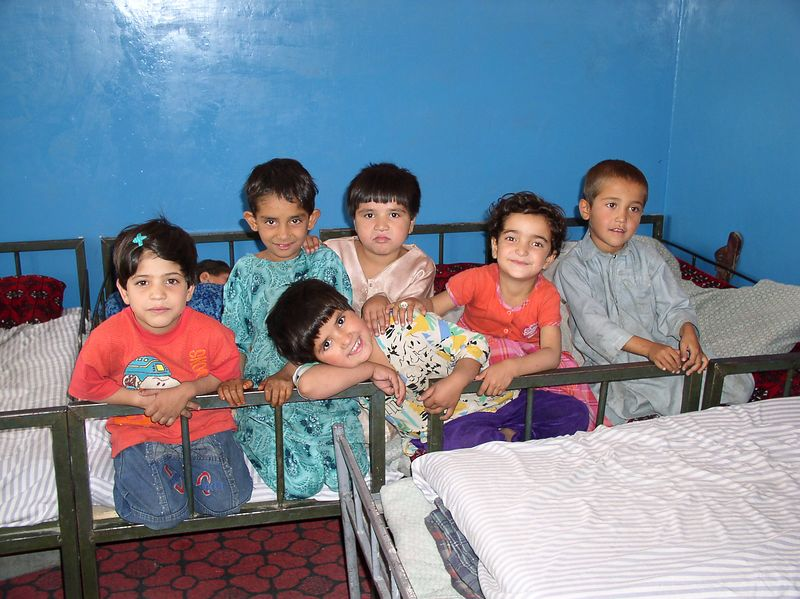 The 4 year olds of Allahuddin - after this picture they sang the Afghanistan national song.It would bring tears to your eyes.