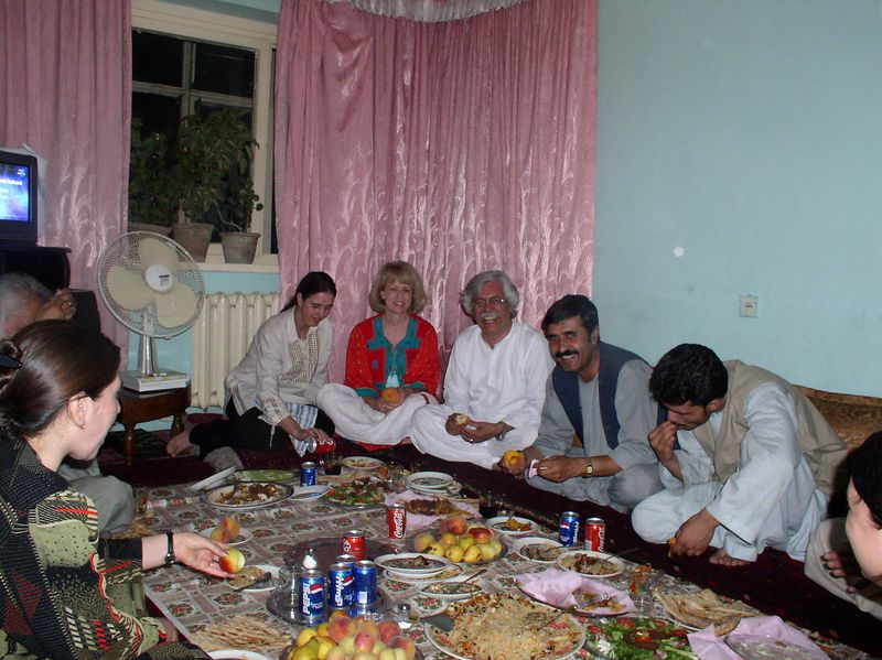 Another Afghani dinner invitation (Friday 8/8) . This is the home of 3 RBH sisters (an anesthesia tech, an OB/GYN resident and OR nurse). It was great fun. I write about it in next week's letter.