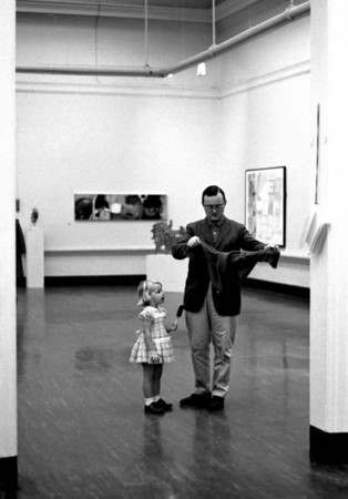 Father and child at Carnegie Museum