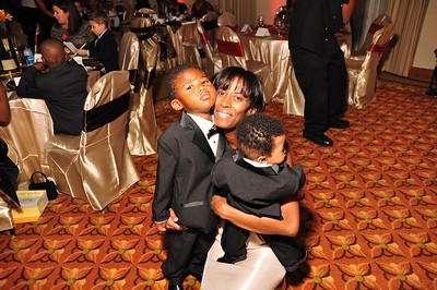 Monique Evans, Founder & President of Children's Pride, Inc and her two sons.