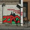 Street Scene in Santiago with Graffiti