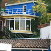 La Chascona..Pablo Neruda's house built for Matilda. House is in Bellavista