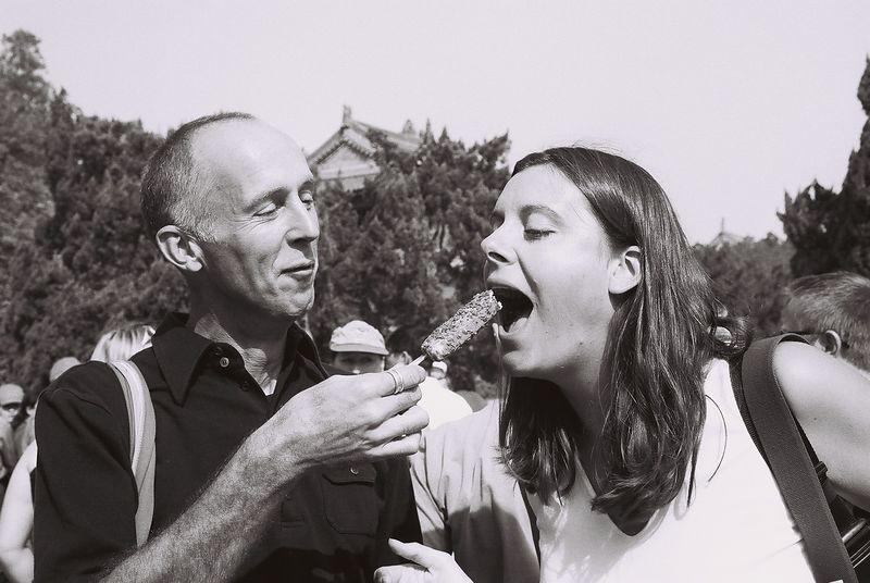sarah, john and ice cream