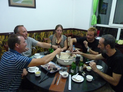 We finally reach Kashgar and have dinner at 11pm after a day of horrendous roads and crazy officialdom.