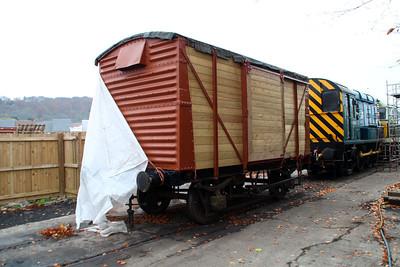 12t Vent Goods Van CDM 518975 under restoration.