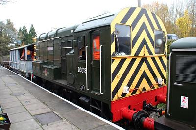 Class 08 D3018 08011 'Haversham' on the engineers train.