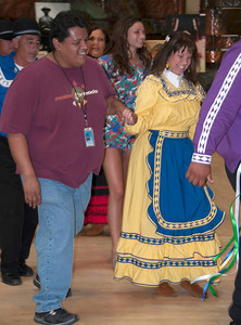 Reuben Noah of Muscogee enjoys his dance with Lana Sleeper